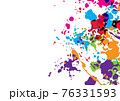Abstract vector splatter color isolated color background design. illustration vector design. 76331593