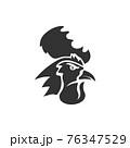 Chicken Rooster Head Mascot Animal Template Silhouette Isolated 76347529