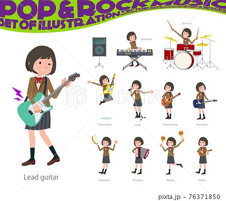 flat type school girl beige Blazer_pop-music 76371850