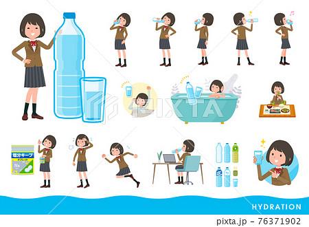 flat type school girl beige Blazer_hydration 76371902
