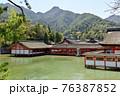 水に浮かぶ厳島神社 76387852