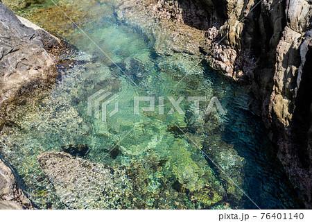 透き通った海水が美しさ海岸 伊豆 76401140