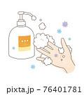 手洗い 泡ハンドソープ ウィルスと右手 76401781
