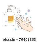手洗い 泡ハンドソープ ウィルスと左手 76401863