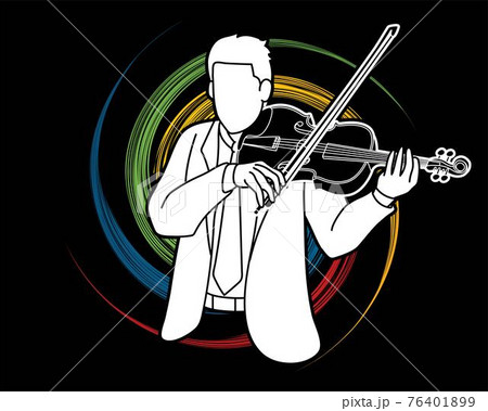 Violin Musician Orchestra Instrument Graphic Vector 76401899
