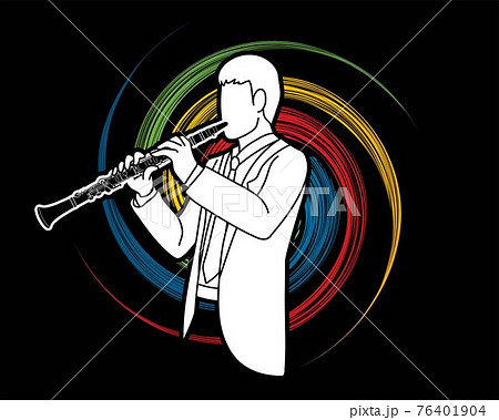 Clarinet Musician Orchestra Instrument Graphic Vector 76401904