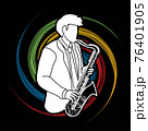 Saxophone Musician Orchestra Instrument Graphic Vector 76401905