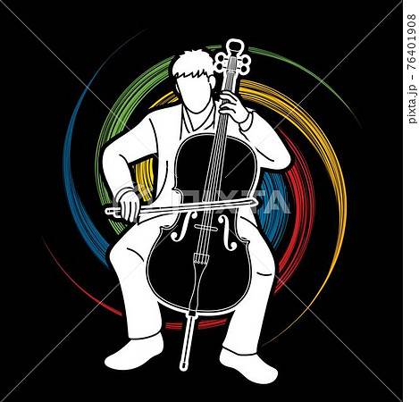Cello Musician Orchestra Instrument Graphic Vector 76401908