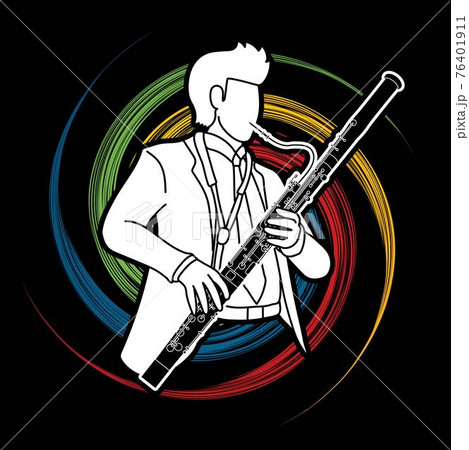 Bassoon Musician Orchestra Instrument Graphic Vector 76401911