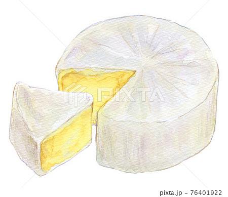 水彩イラスト カマンベールチーズ 76401922