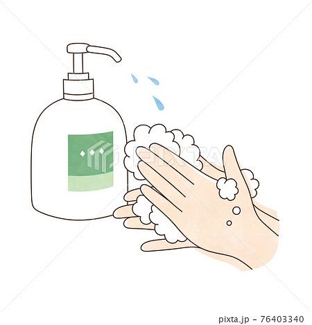 手洗い 液体ハンドソープ 両手 76403340