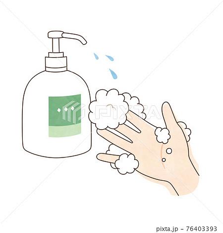 手洗い 液体ハンドソープ 右手 76403393