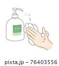 手洗い 液体ハンドソープ 左手 76403556