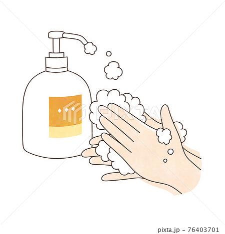 手洗い 泡ハンドソープ 両手 76403701