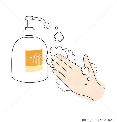 手洗い 泡ハンドソープ 左手 76403821