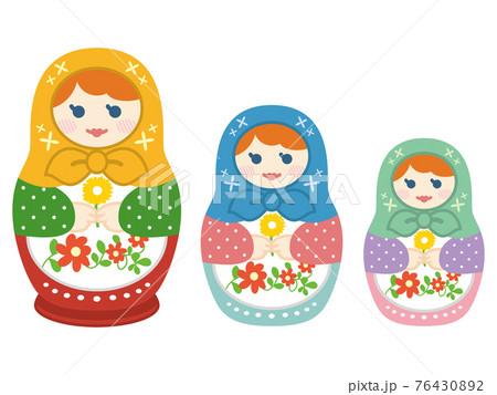 マトリョーシカ ロシアの民芸品 76430892
