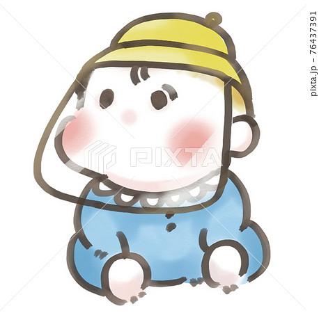フェイスシールドをする赤ちゃん 76437391