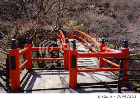 群馬県の伊香保温泉の河鹿橋 76447253