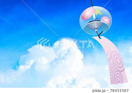 江戸風鈴 夏空イメージ素材 76455567