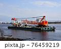 クレーン付台船 76459219