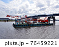 クレーン付台船 76459221