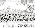 手書きの背景 幻想的な模様 76465141