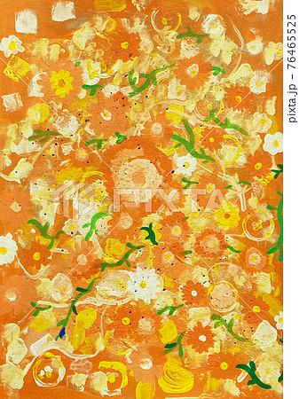 背景用花の模様 76465525
