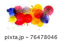 Multi colored ink blots isolated on white 76478046