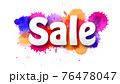 Sale. Letters carving from paper over Multi 76478047