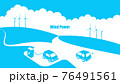 風力発電と電気自動車のイラスト 76491561