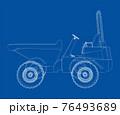 Dumper Truck. Vector 76493689