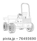 Dumper Truck. Vector 76493690