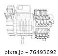 Air conditioning compressor. Vector 76493692