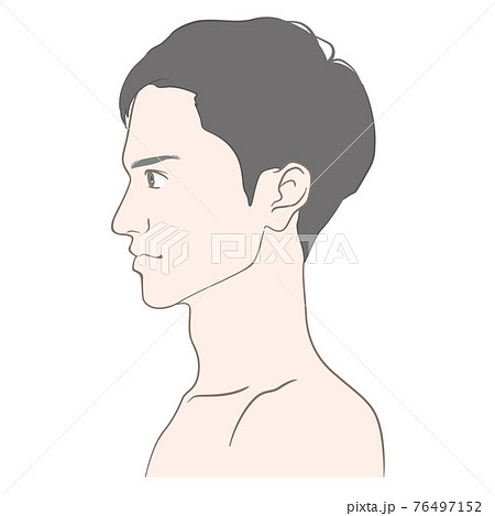 20代から30代前半くらいの男性のイメージイラスト 76497152