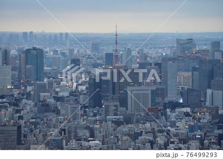 スカイツリーからの展望景色 東京タワー方向 76499293