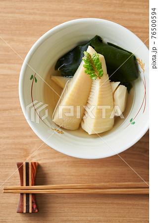 若竹煮(わかめと筍の煮物) 76500594