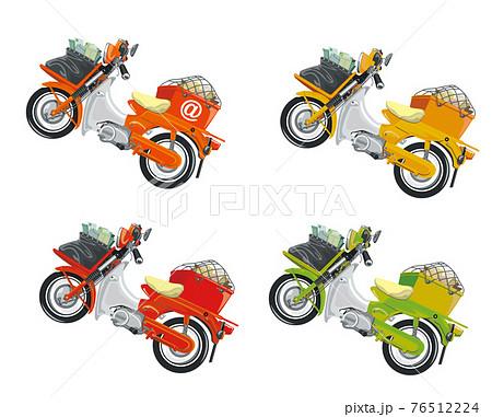 郵便バイク,カラー,4種 76512224