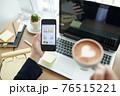 Entrepreneur checking business activity 76515221