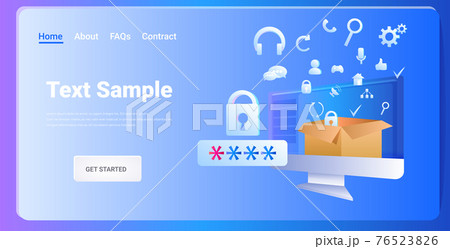 computer app antimalware protection shield data privacy security concept horizontal 76523826