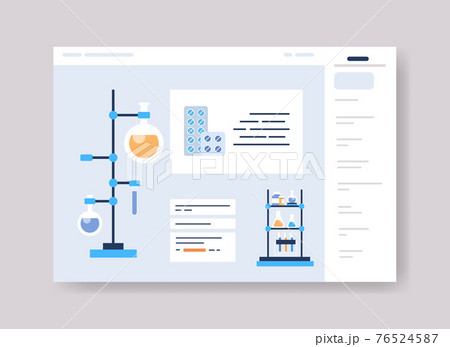 infographic template for medical presentation medicine healthcare concept online web page interface 76524587