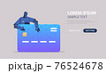 black robot hacking data privacy security information of credit card artificial intelligence concept 76524678