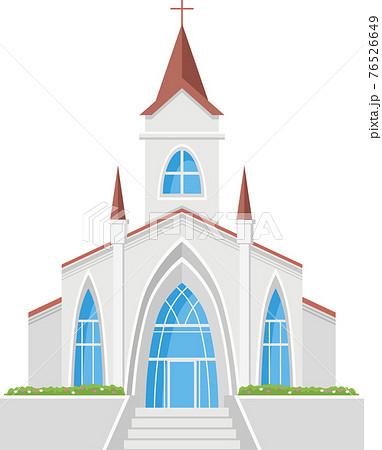 チャペル(教会)のイメージイラスト(正面) 76526649