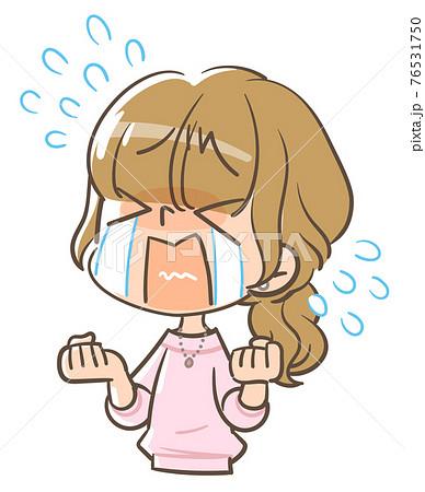 大泣きする女の子2 76531750