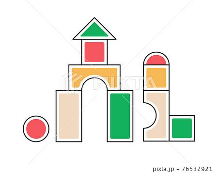 積み木の玩具のイラスト 知育玩具 76532921