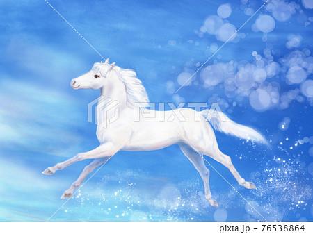 青空を駆ける白馬 76538864