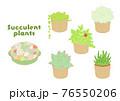 多肉植物のアイコンイラストセット 76550206