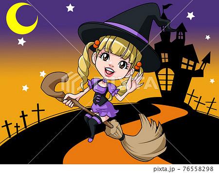 ハロウィンの魔女 76558298