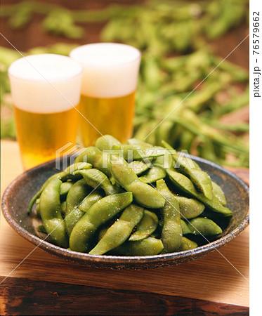 黒枝豆とビール 76579662