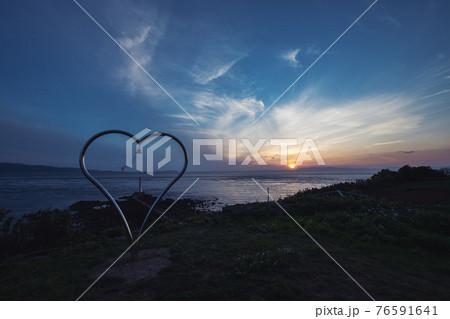 瀬詰崎のハート 早崎海峡 長崎 口之津 76591641