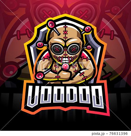 Voodoo esport mascot logo design 76631396